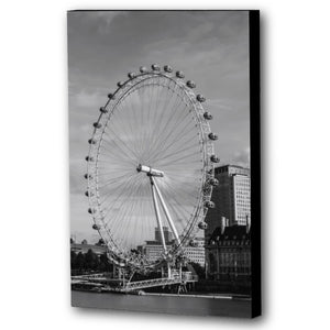 Fine Art Canvas Print, London England, London Eye, Ferris Wheel
