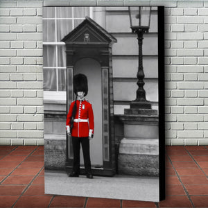 Fine Art Canvas Print, London England, Royal Guard