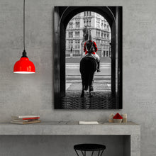 Load image into Gallery viewer, Fine Art Metal Print, Europe Photography, London Royal Guard on Horse