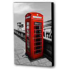 Load image into Gallery viewer, Fine Art Canvas Print, London England, Phone Booth