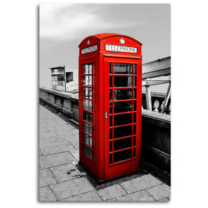 Fine Art Metal Print, Europe Photography, London Phone Booth