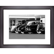 Load image into Gallery viewer, Framed Fine Art Print, Vintage Cars, Black and White