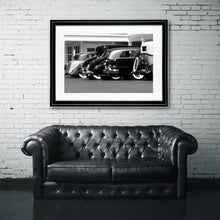 Load image into Gallery viewer, Fine Art Print, Vintage Cars, Black and White