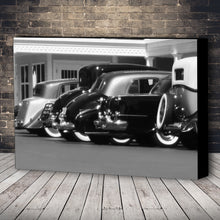 Load image into Gallery viewer, Fine Art Canvas Print, Black & White, Antique Cars
