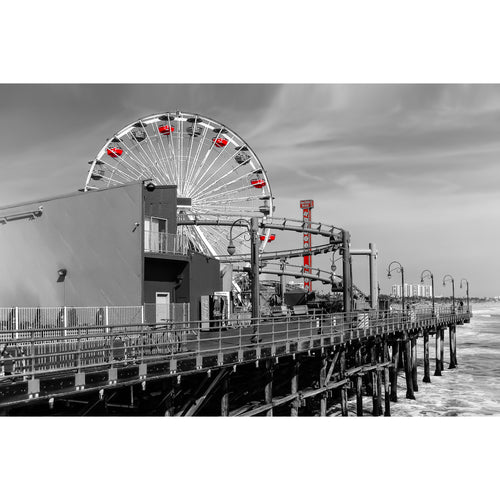 Fine Art Print, California, Santa Monica Pier, Ferris Wheel