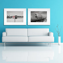 Load image into Gallery viewer, Framed Fine Art Print, California, Beach, Surf Swim Sign