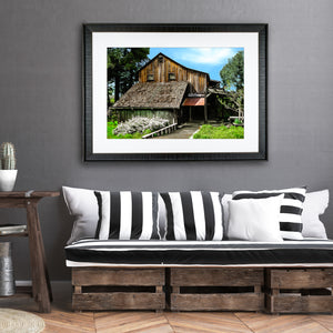 Fine Art Print, California, Rustic Winery
