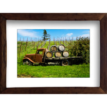 Load image into Gallery viewer, Framed Fine Art Print, California, Wine Country, Rustic Truck