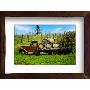 Framed Fine Art Print, California, Wine Country, Rustic Truck