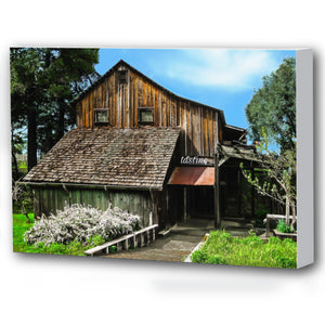 Fine Art Canvas Print, California, Wine Country, Rustic Barn