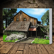 Load image into Gallery viewer, Fine Art Canvas Print, California, Wine Country, Rustic Barn