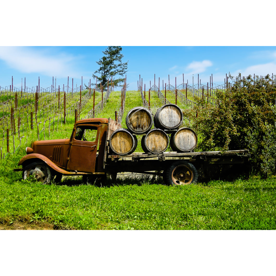 Fine Art Print, California, Wine Country, Old Truck