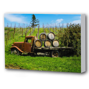 Fine Art Canvas Print, California, Wine Country, Old Truck