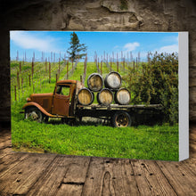 Load image into Gallery viewer, Fine Art Canvas Print, California, Wine Country, Old Truck