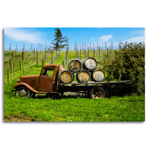 Fine Art Metal Print, Color Photography, California, Wine Country, Old Truck