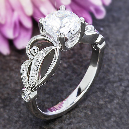 Beautiful Modeling Wings White Crystal Rings