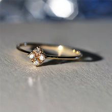Load image into Gallery viewer, Beautiful Four Heart Crystal Ring