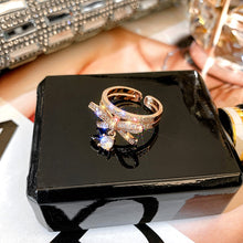 Load image into Gallery viewer, Fashion Mini Bow Crystal Ring