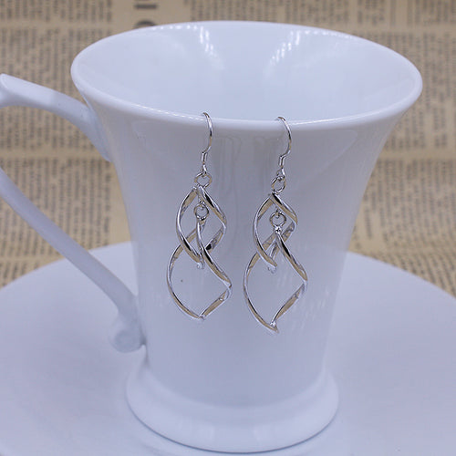 Double Drop Silver Earrings