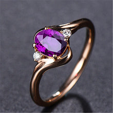 Load image into Gallery viewer, Adjustable Red Crystal Diamond Ring
