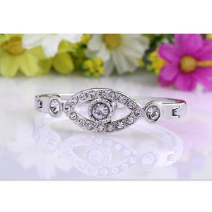 Adorable Rhinestone Love Bracelet
