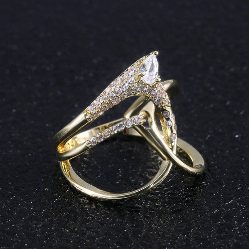 Unique Cross Design CZ Ring
