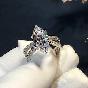 Distinctive Six Prong Zircon Ring