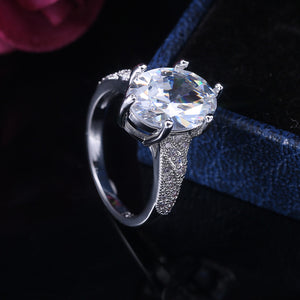 Exquisite Large Stone Crystal Zircon Ring