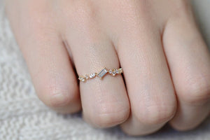 Stylish 14K Gold Plated Ring