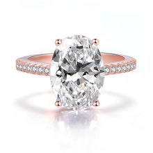 Load image into Gallery viewer, Large Oval Crystal Zircon Ring