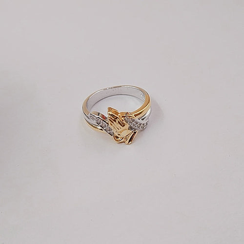 Gold Plated Prayer Hands Ring