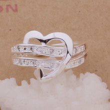 Load image into Gallery viewer, Half Heart Love Ring