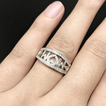 Load image into Gallery viewer, Silver Heart Rhinestone Ring