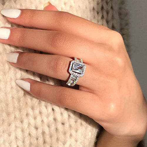 Sterling Silver 3 Carats CZ Ring