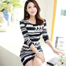 Load image into Gallery viewer, Long Sleeve O-Neck Mini Dress