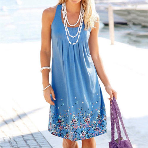 Sleeveless Evening O-Neck Loose Dress