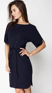 O-Neck Short Sleeve Knitted Dress