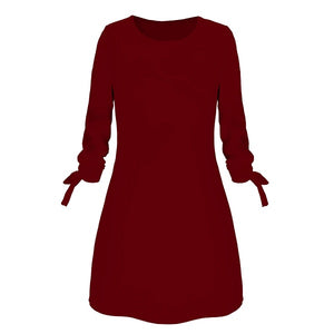 New Fashion Solid Color Office Dress
