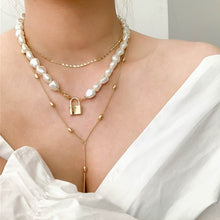 Load image into Gallery viewer, Multi-layer Imitation Irregular Pearls Necklace