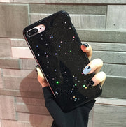 Clear Glitter Star Cover Case
