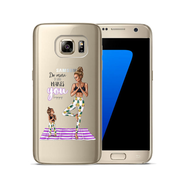 Mom Girl Queen Soft TPU Cover For Samsung