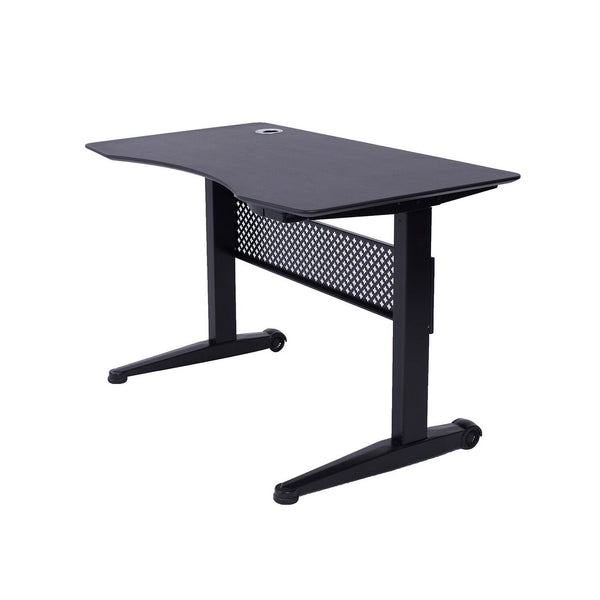 Airdesk Pneumatic Standing Desk 59 x29 Textured Black