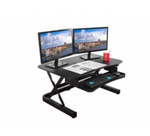 "Electric Desk Riser Converter 36x24"" Black"