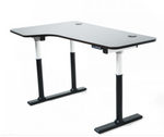 Vortex Series Electric 3-Leg Corner Standing Desk Left Return