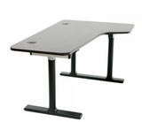 Vortex Series Electric 3-Leg Corner Standing Desk Right Return