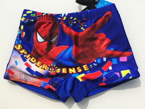 2017 New children swimsuit,boys spiderman/cars/Thomas swimwear,kids boy swimming trunks boy shorts