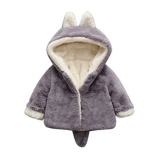 Load image into Gallery viewer, 2017 Cute Winter Autumn Kids Baby Girl Hooded Cloak Jacket Thick Clothes Warm Coat Infant Princess Velvet Outerwear Coats