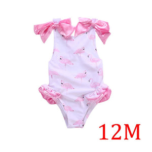 Baby Girl Swimwear Flamingos Baby Swimwear Kids Girl Toddler Swimwear Summer Children Clothing Sling Toddler Girls Swim Suit
