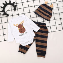 Load image into Gallery viewer, Newborn Baby Boy Letter Print Long Sleeves Top+Pants+Hat Kid Clothes Outfit Sets
