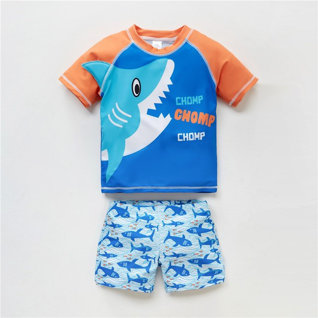 New Fashion Kids Boys Swimming Wear Cool Animals Cartoon Printed Baby Boy Swimsuit Beach Wear Fish Pattern Child Bathing Suit